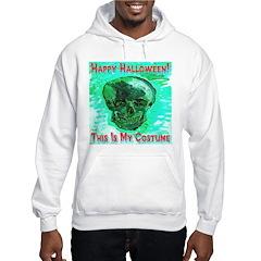 Skull Costume Icy Blue Hoodie