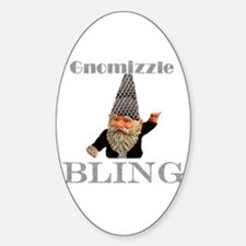 Gnome Bling Oval Decal