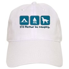 I'd rather be camping. Baseball Cap