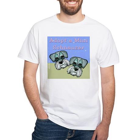 Adopt a Miniature Schnauzer White T-Shirt