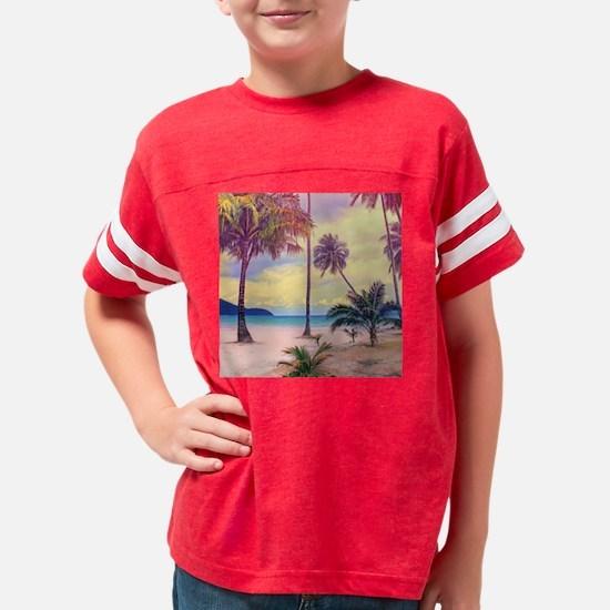 Tropical Beach Youth Football Shirt