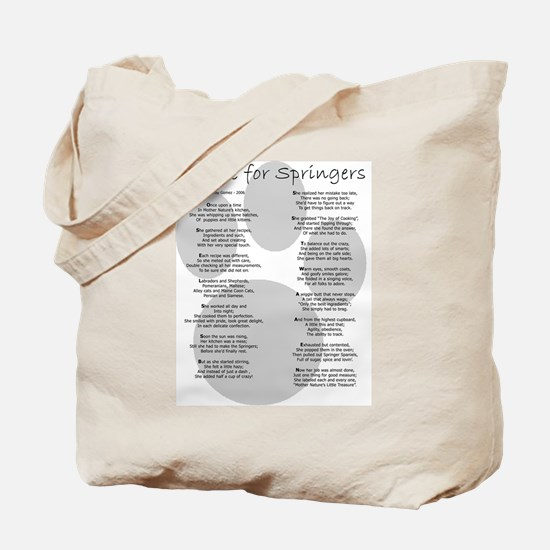 Recipe for Springers w/URL Tote Bag