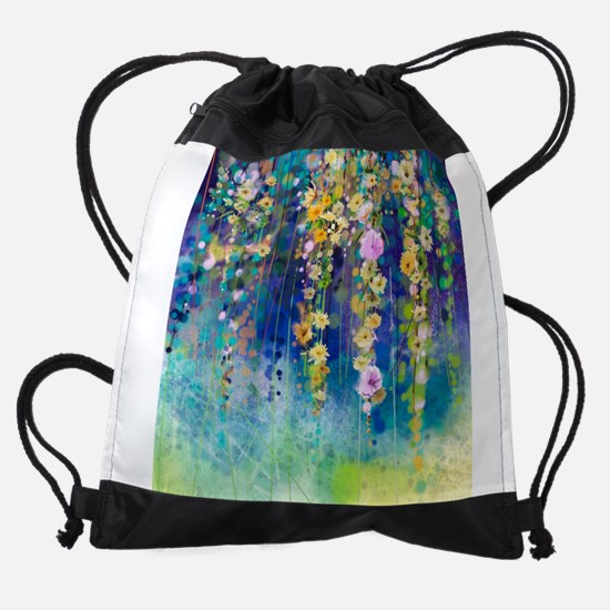 Floral Painting Drawstring Bag