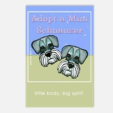 Adopt a Miniature Schnauzer Postcards (Package of