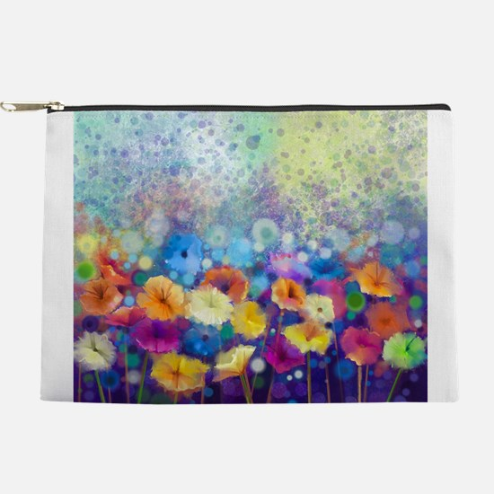 Floral Painting Makeup Pouch