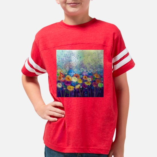 Floral Painting Youth Football Shirt
