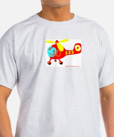 Wee Big Helicopter! Ash Grey T-Shirt