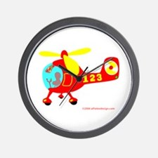 Wee Helicopter! Wall Clock