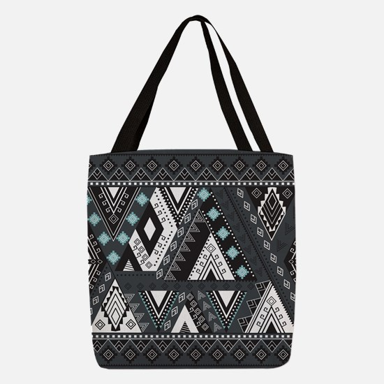 Native Pattern Polyester Tote Bag