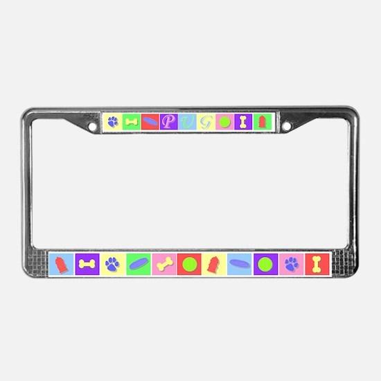 Pug N Stuff License Plate Frame