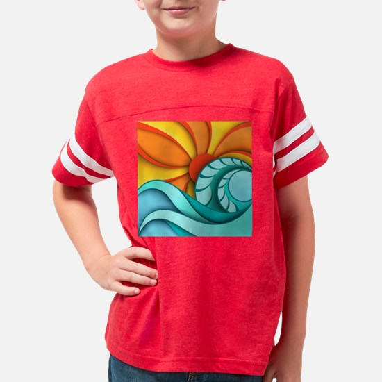 Sun and Sea Youth Football Shirt