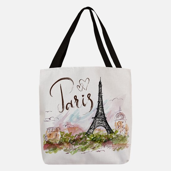 Paris Polyester Tote Bag