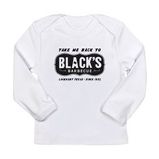 text black,s barbecue Long Sleeve Infant T-Shirt