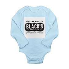 text black,s barbecue Long Sleeve Infant Bodysuit
