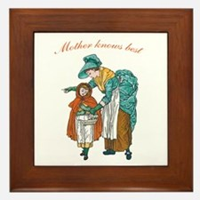 Mother Knows Best Framed Tile