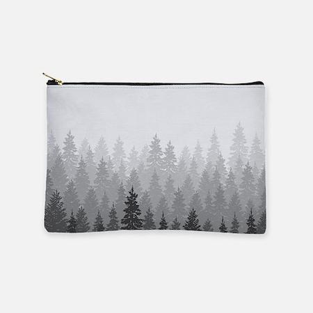 Gray Forest Makeup Bag