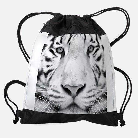 Realistic Tiger Painting Drawstring Bag