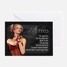 Aries Gothic Zodiac Birthday Card