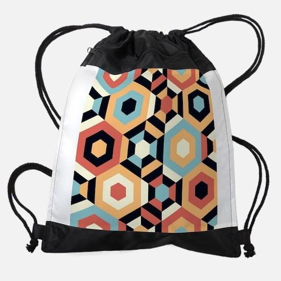 Retro Pattern Drawstring Bag