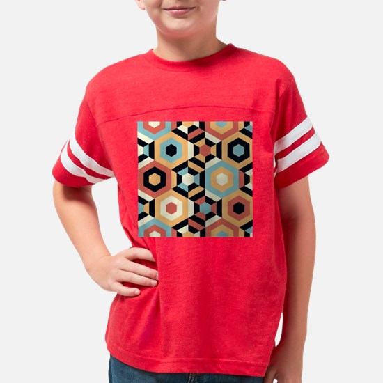 Retro Pattern Youth Football Shirt