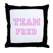 Pink Team: Fred Throw Pillow