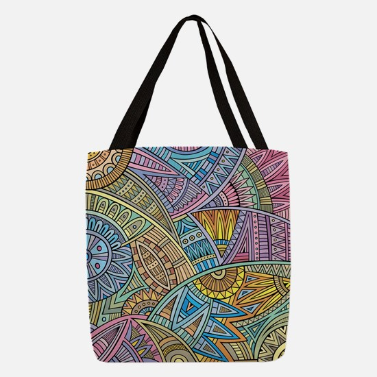 Colorful Abstract Polyester Tote Bag