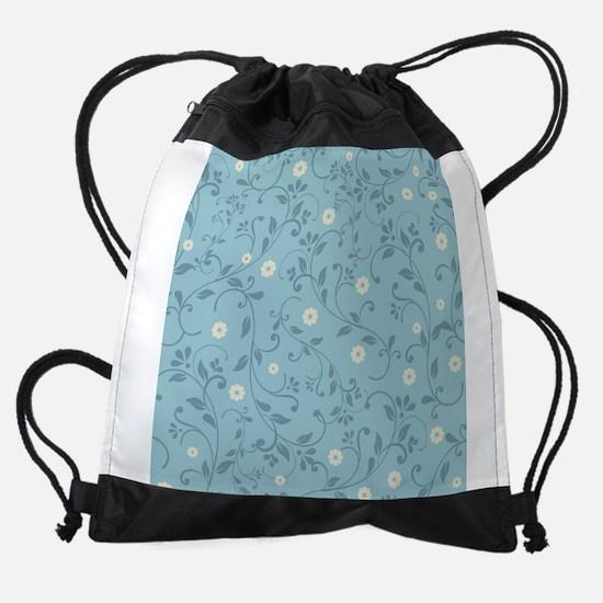 Country Floral Drawstring Bag