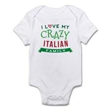 I Love My Crazy Italian Family Infant Bodysuit