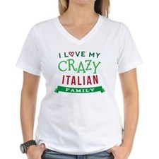 I Love My Crazy Italian Family Shirt