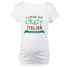 I Love My Crazy Italian Family Shirt