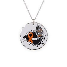 Hope Multiple Sclerosis Necklace Circle Charm