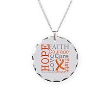 Multiple Sclerosis Faith Necklace Circle Charm