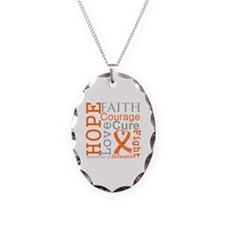 Multiple Sclerosis Faith Necklace Oval Charm