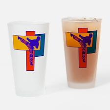 TKD Power Kick Drinking Glass