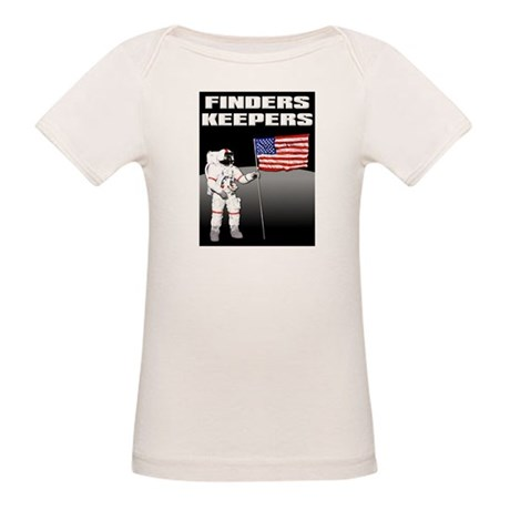 Finders Keepers Lunar Landing Funny T-Shirt Organi