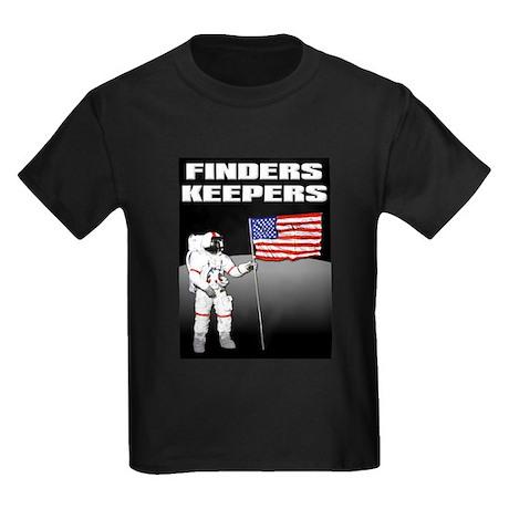 Finders Keepers Lunar Landing Funny T-Shirt Kids D