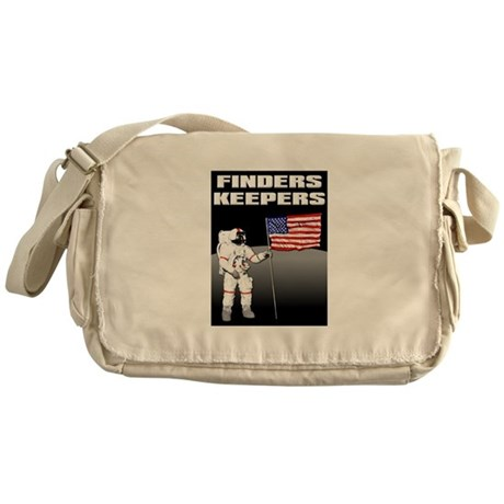 Finders Keepers Lunar Landing Funny T-Shirt Messen