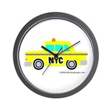 Wee New York Cab! Wall Clock