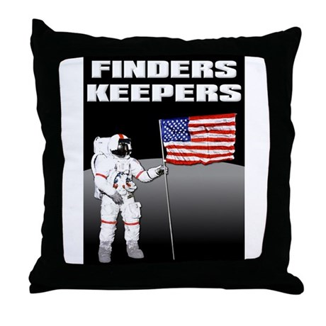 Finders Keepers Lunar Landing Funny T-Shirt Throw