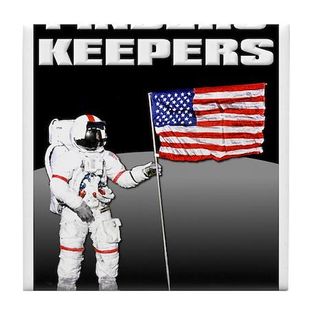 Finders Keepers Lunar Landing Funny T-Shirt Tile C