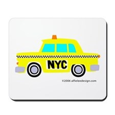 Wee New York Cab! Mousepad