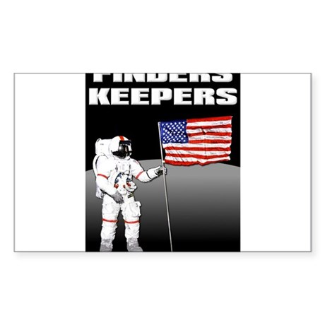Finders Keepers Lunar Landing Funny T-Shirt Sticke