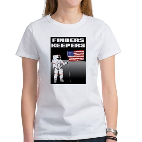 Finders Keepers Lunar Landing Funny T-Shirt Women'