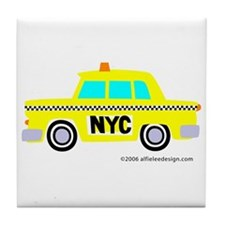 Wee New York Cab! Tile Coaster