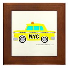 Wee New York Cab! Framed Tile
