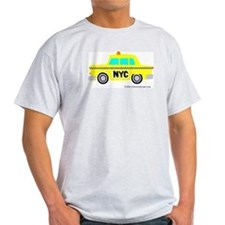Wee Big New York Cab! Ash Grey T-Shirt