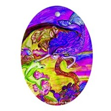 Mermaid Violet Bliss Oval Ornament