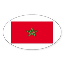 Morocco Moroccan Blank Flag Oval Decal
