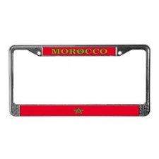 Morocco Moroccan Blank Flag License Plate Frame