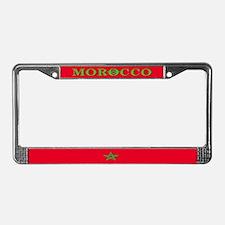 Morocco Moroccan Blank Flag License Plate Frame